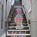台南 Sili Girl 入口樓梯