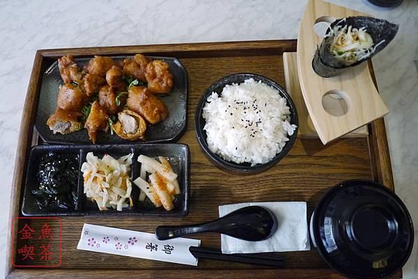台南 二本木 家庭定食料理 唐揚雞肉定食