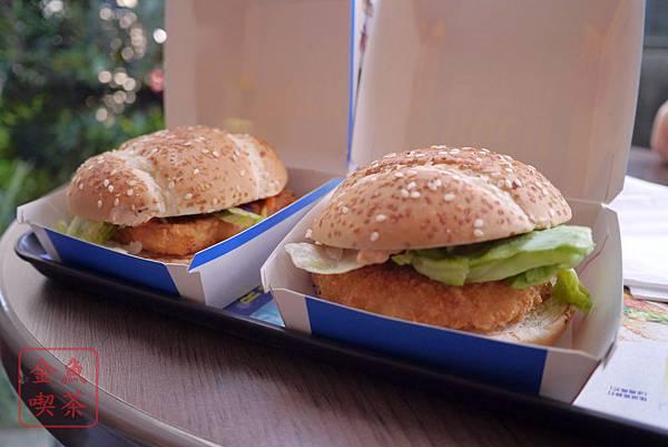 青芥末鱈魚堡、海味揚蝦堡