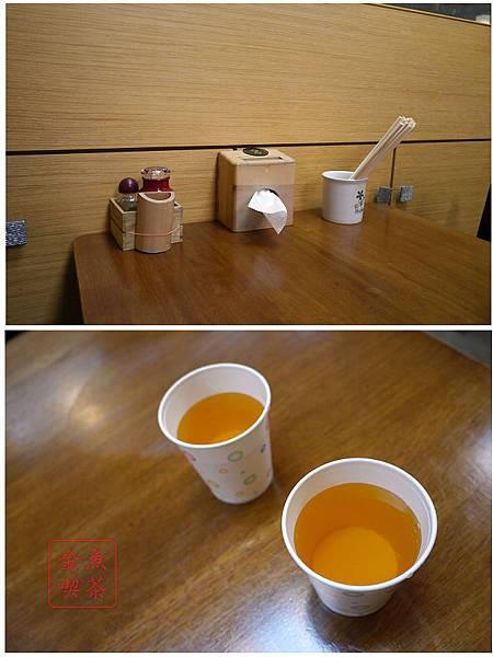 福壽司 桌面跟茶水