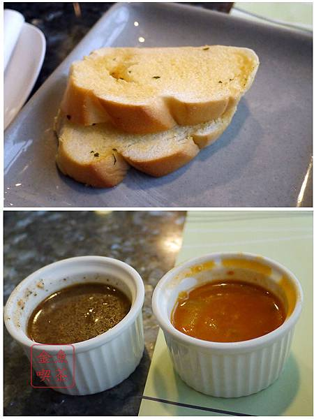 上品鐵板燒 蒜泥麵包/黑胡椒醬*蘑菇醬