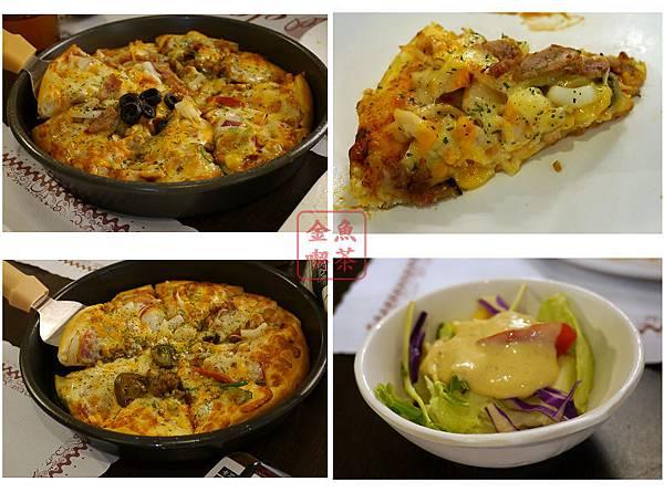高雄 卡不里堀江店 披薩+沙拉