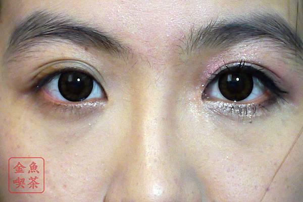 華爛漫眼妝 兩眼比較
