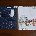 東京著衣 清新小鳥紋式片襯衫+可愛字母印花圓領白T-冰淇淋