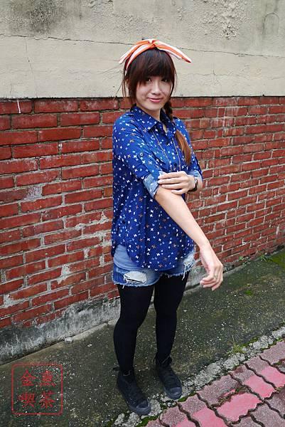 東京著衣 清新小鳥紋式片襯衫 實穿