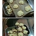 鬆餅粉 餅乾 利用筷子做放涼網架