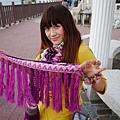 Miruru 米路 份量感撞色交織圖騰大圍巾