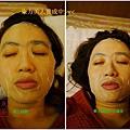Ms.gold 醫美級東方美人鎖水保濕蠶絲面膜 使用前後面膜狀況
