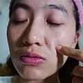 Ms.gold 醫美級柚香美白蠶絲面膜 使用後臉部狀況
