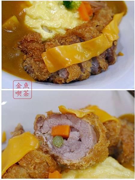 大西屋おおにしや アスパラにんじんチーズ揚げカレー 起士蘆筍豬肉捲咖哩