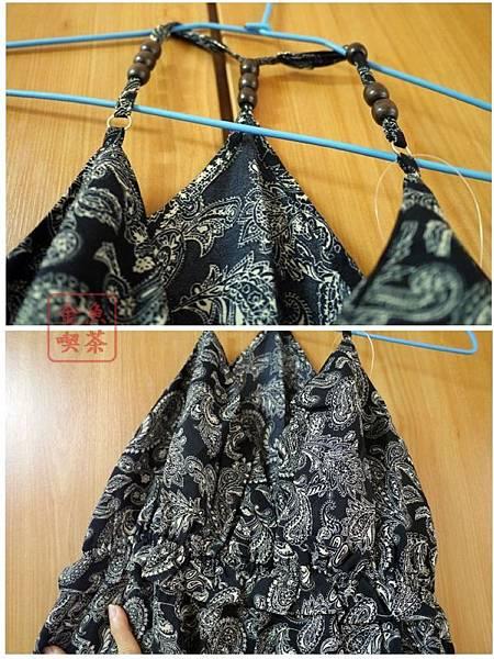 CACO 小花圖騰長洋裝(黑) 串珠及細節