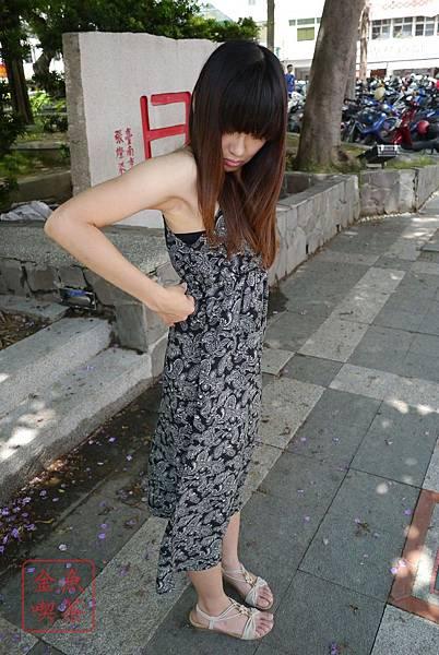 CACO 小花圖騰長洋裝(黑)