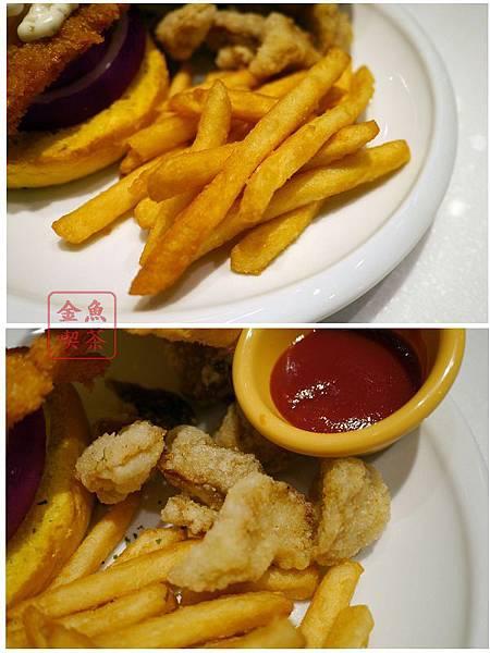 DACOZ 美式廚房 附餐的薯條跟炸綜合菇