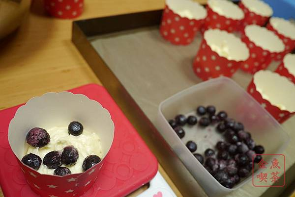 藍莓優格瑪芬 加入藍莓