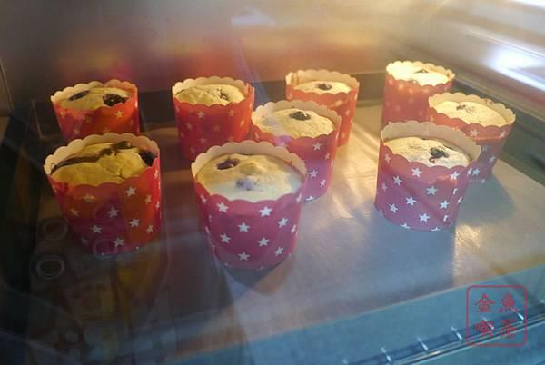 藍莓優格瑪芬 進烤箱~