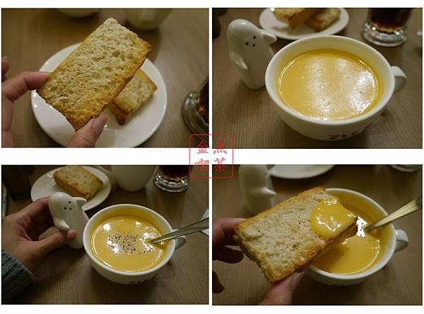 235巷PASTA台南文化店 義式麵包+奶油玉米濃湯