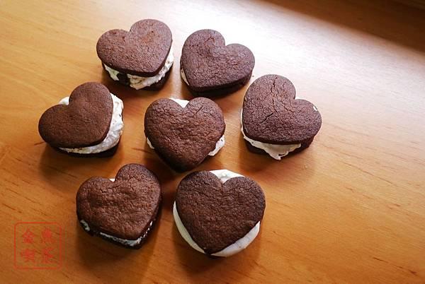 巧克力棉花糖夾心餅乾 完成