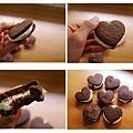 巧克力棉花糖夾心餅乾 咬一口~