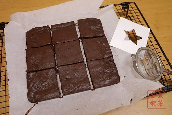 苦甜巧克力布朗尼 切塊