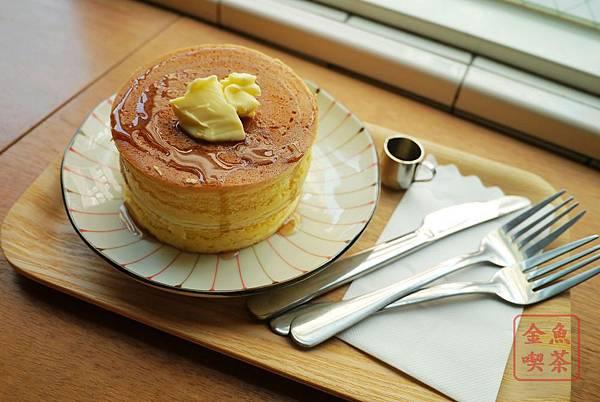 喜八珈琲店 奶油原味厚鬆餅