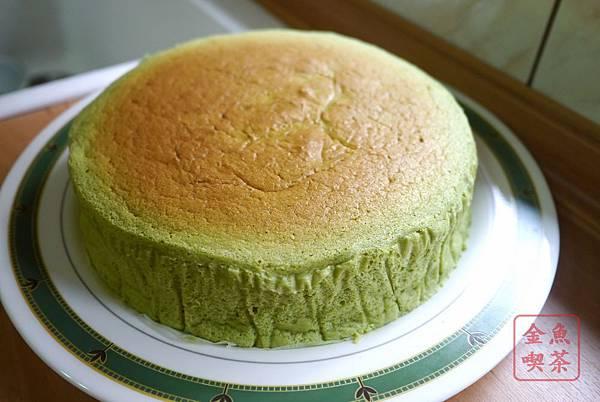 抹茶舒芙蕾起司蛋糕 完成