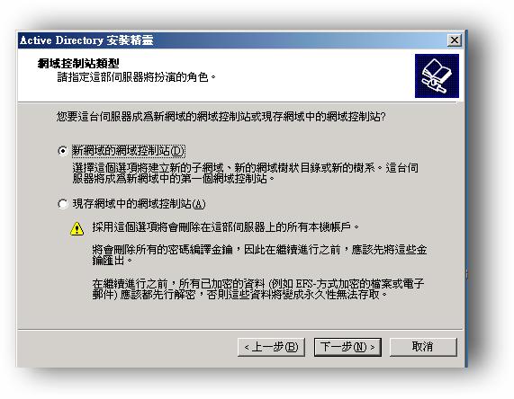 3.網域控制站類型