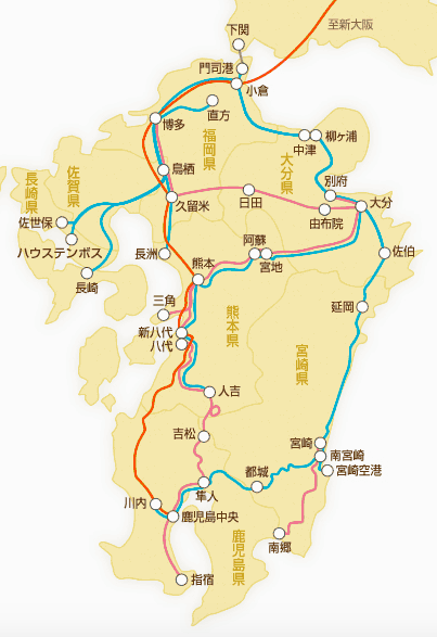 JR Pass 路線