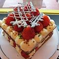 草莓方形蛋糕