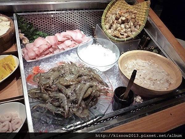 溫野菜9-海鮮吧台.JPG