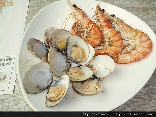 滿堂紅45-鮮蝦和蛤蜊.JPG