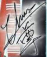 吳尊簽名.