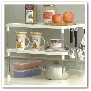 廚房收納(下):鍍鉻鐵架8.