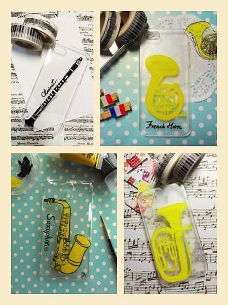 手機殼彩繪-樂器1