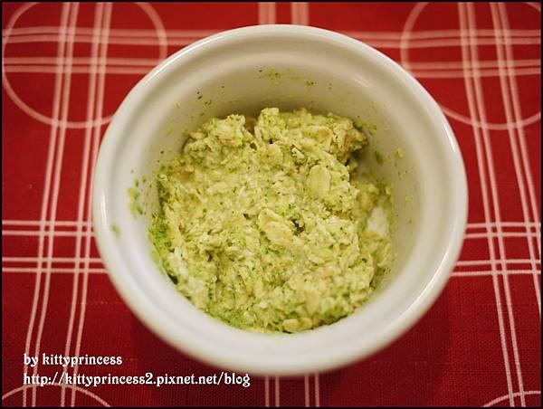 燕麥片+花椰菜汁