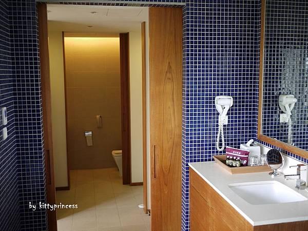 從浴室往廁所看