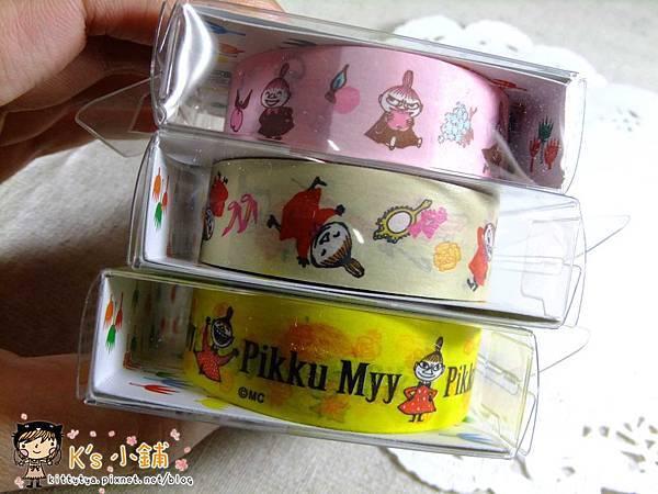 Gakken Fun tape紙膠帶 嚕嚕米之小不點 粉色/奶油色/黃色 $110/捲