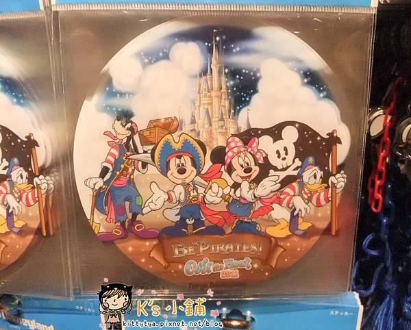 迪士尼樂園 海盜主題半透明圓形大貼紙 相簿價$