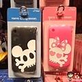 迪士尼樂園限定 IPhone3 手機矽膠套 骷膢米奇/骷髏米妮