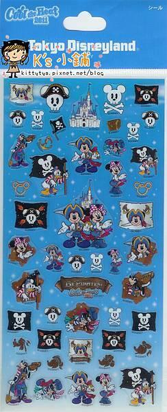 迪士尼樂園 海盜主題半透明凸凸貼 相簿價$
