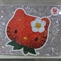 kitty ART展限定商品:滑鼠墊 二款 草莓頭/草莓帽