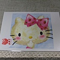 kitty ART展限定商品:水彩畫明信片02