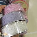 MW Lace Deco蕾絲鏤空裝飾膠帶30mm $235;實品圖 上→下 MW91505蕾絲白/MW91503鳥籠紫/MW91500灰姑娘粉