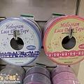 MW Lace Deco蕾絲鏤空裝飾膠帶30mm $235;左→右 MW91345房子藍 / MW91346蕾絲邊蝴蝶結粉