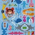 MW貼紙 YURU系列 MW72360 YURU分類貼藍 $100