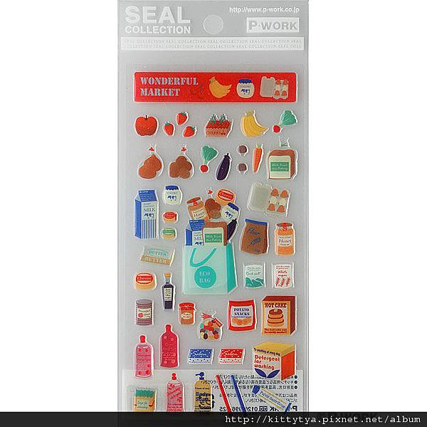 P-WORK貼紙 水晶貼系列 小美超市22-21 $120 A