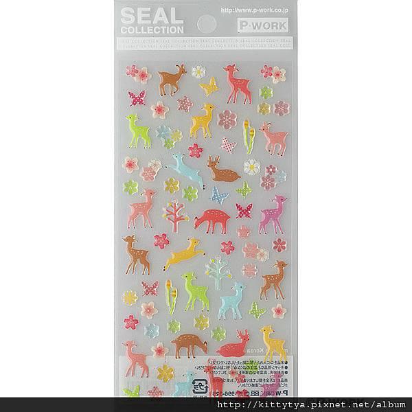 P-WORK貼紙 水晶貼系列 斑比小鹿22-29 $120 A