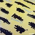 P-WORK貼紙 手帳貼系列 鱷魚剪影31-03 $100A