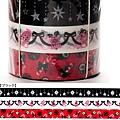 Mark's和紙膠帶 2011年限定 聖誕assor系列 MKT13-BK黑