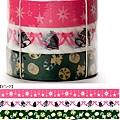 Mark's和紙膠帶 2011年限定 聖誕assor系列 MKT13-PK粉