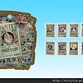 ensky卡漫貼紙包 海賊王手配書 相簿價$125 合購價$115 可重覆黏貼